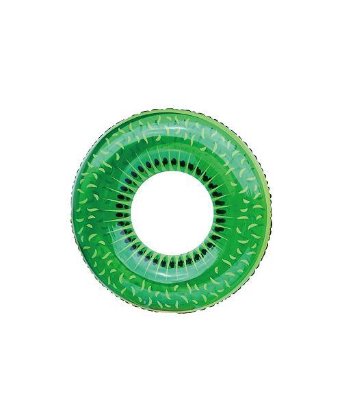 """Northlight 42"""" Inflatable Kiwi Fruit Swimming Pool Inner Tube Ring Float"""