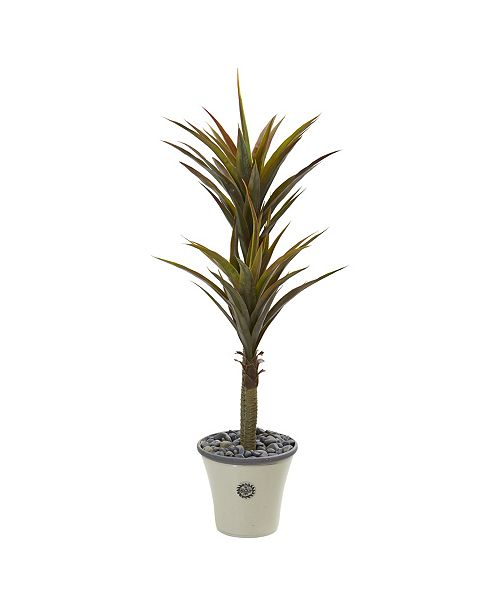 "Nearly Natural 62"" Yucca Artificial Tree in Decorative Planter"
