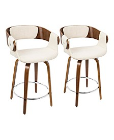 "Elisa 24"" Counter Stool, Set of 2"