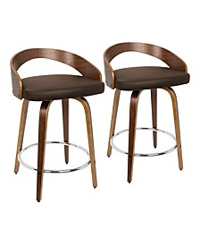 "Grotto 24"" Counter Stool, Set of 2"