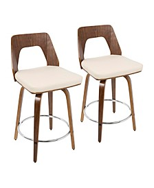 "Trilogy 24"" Counter Stool, Quick Ship Set of 2"