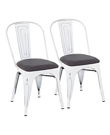 Oregon Stackable Dining Chairs, Set of 2