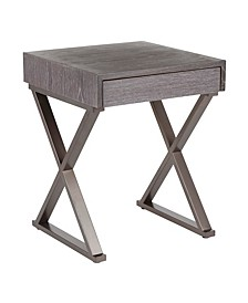 Industrial Luster Side Table