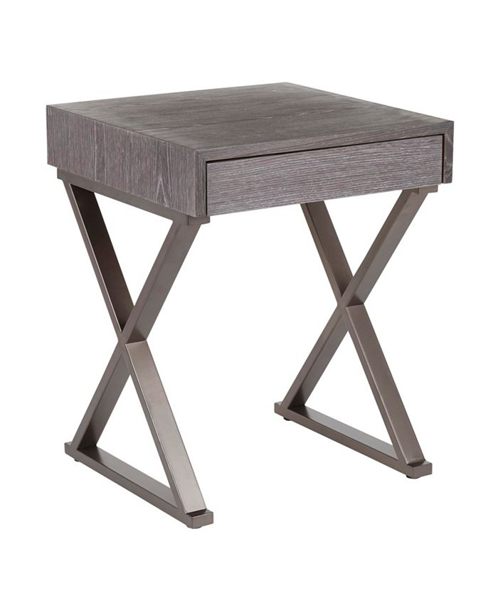 Lumisource - Industrial Luster Side Table, Quick Ship