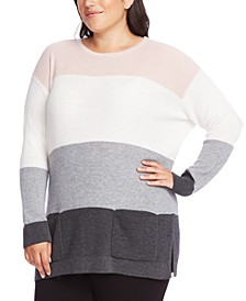 Plus Size Colorblocked Sweater