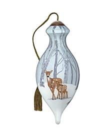 The NeQwa Art First Winter hand-painted blown glass Christmas ornament