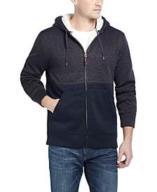 Men's Sherpa-Lined Zip-Front Hoodie
