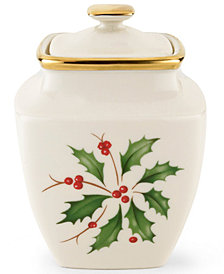 Lenox Dinnerware, Holiday Square Sugar Bowl