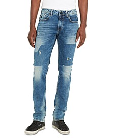 Men's Ash-X Slim-Fit Stretch Destroyed Jeans