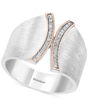 Effy Diamond (1/10 ct. t.w.) Statement Ring in Sterling Silver and 14k Rose Gold