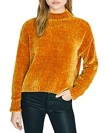Chenille Mock-Neck Sweater