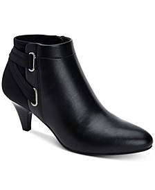 Women's Step 'N Flex Vashtee Strapped Mixed-Texture Booties, Created for Macy's