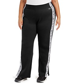 Plus Size Logo-Tape Active Jogger Pants