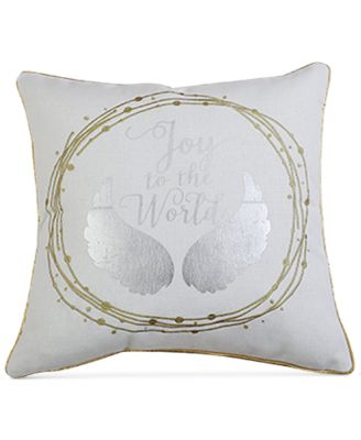 "Jana Joy to the World 20"" x 20"" Decorative Pillow"