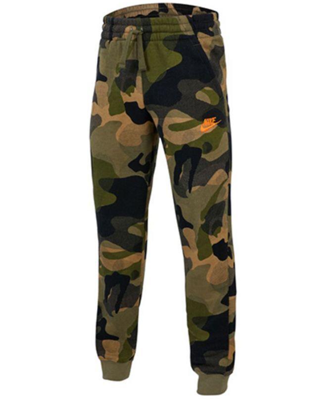 Nike Big Boys Camo-Print Fleece Jogger Pants