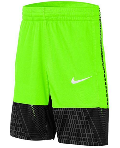 Nike Big Boys Dri-FIT Printed Mesh Shorts