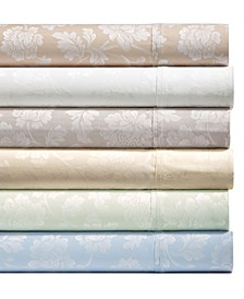 1000-Thread Count 4-Pc. Floral Jacquard Sateen Sheet Set Collection