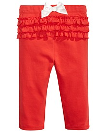 Baby Girls Ruffled Bow Leggings, Created For Macy's