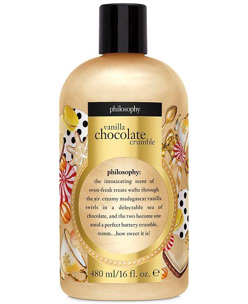 philosophy Vanilla Chocolate Crumble Shower Gel, 16-oz