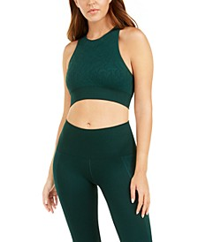 Seamless Racerback Medium-Impact Sports Bra, Created for Macy's