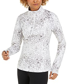 Snake-Print Quarter-Zip Top, Created for Macy's