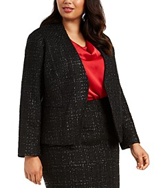 Plus Size Tweed Jacket