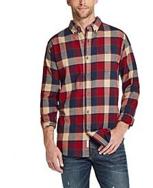 Men's Brushed Antique Flannel Plaid Shirt