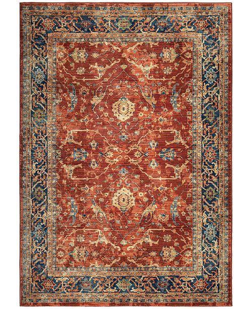 "Palmetto Living ORI380460 Alexandria Ankara Red 5'1"" x 7'6"" Area Rug"