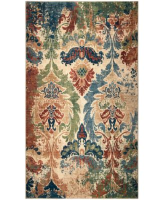 "Alexandria Distressed Hearst White 7'8"" x 10'10"" Area Rug"