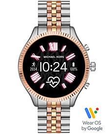 Access Lexington 2 Tri-Tone Stainless Steel Bracelet Touchscreen Smart Watch 44mm, Powered by Wear OS by Google™