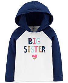 Toddler Girls Big Sister Hooded T-Shirt
