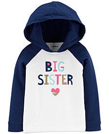 Carter's Toddler Girls Big Sister Hooded T-Shirt