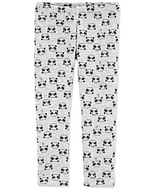 Toddler Girls Panda-Print Fleece Leggings