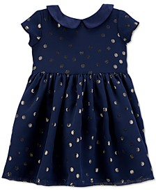 Baby Girls Crepe Glitter Dot Dress
