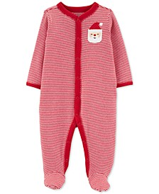 Baby Boys & Girls Striped Santa Coverall