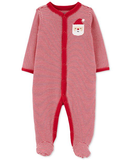 Carter's Baby Boys & Girls Striped Santa Coverall