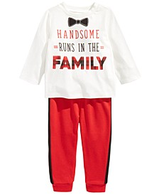 Baby Boys Handsome T-Shirt & Jogger Pants, Created For Macy's