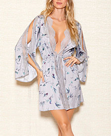 iCollection Hummingbird Print Robe, Online Only