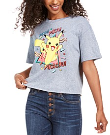 Juniors' Pikachu Cotton T-Shirt