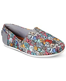 Women's BOBS Plush Woof Party Slip-On Casual Sneakers from Finish Line