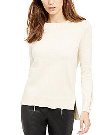 Michael Michael Kors Tie-Sleeve Sweater, Regular & Petite Sizes, Created for Macy's