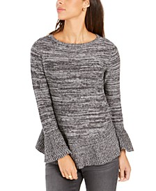 Petite Ruffle-Hem Tunic Sweater, Created for Macy's