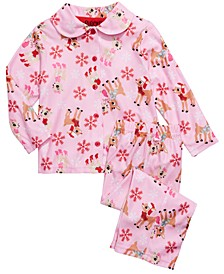 Toddler Girls 2-Pc. Rudolph Pajamas Set
