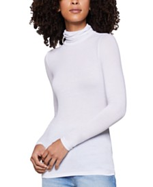 BCBGeneration Semi-Sheer Turtleneck Sweater