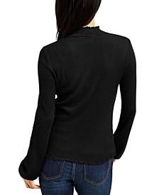 Juniors' Mock-Neck Top, Created For Macy's
