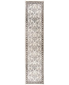"Aria Persian Forest Silver Tone 2'2"" x 8' Runner Rug"