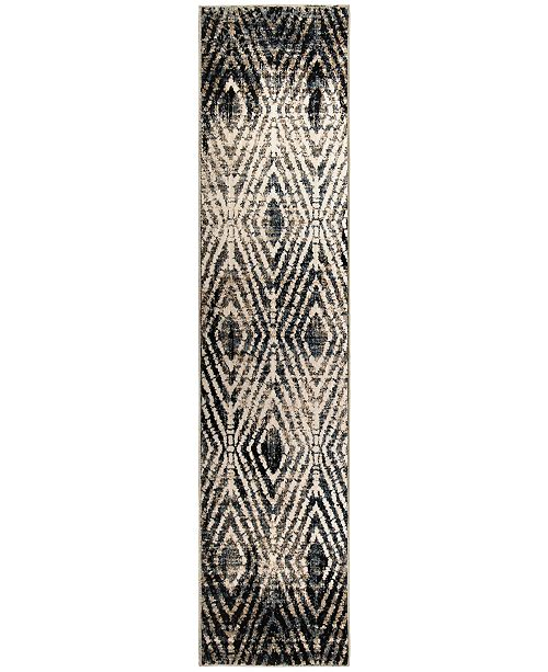"Palmetto Living Adagio Tribal Throne Off White 2'2"" x 8' Runner Rug"