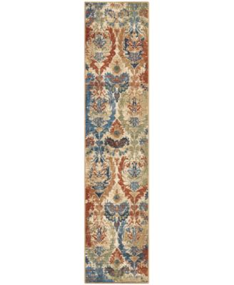 "Alexandria Distressed Hearst White 2'2"" x 8' Runner Rug"
