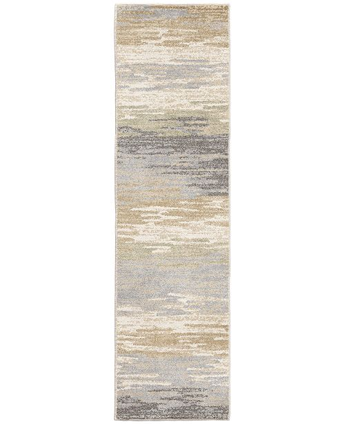"Palmetto Living Riverstone Distant Meadow Bay Beige 2'3"" x 8' Runner Rug"