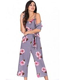 Women's Floral Culotte Jumpsuit